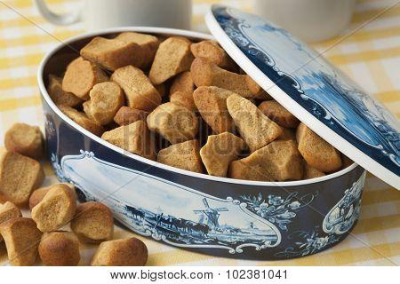 Dutch cookie jar with pepernoten on 5 december