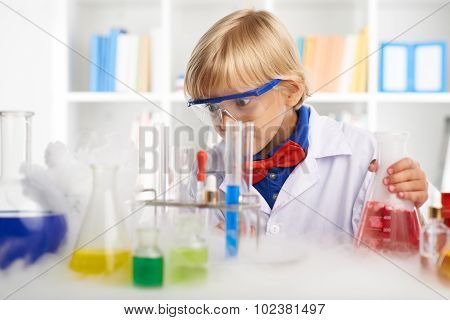 Shocked little chemist