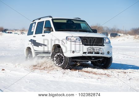 Khabarovsk, Russia - January 31, 2015: Off Road Winter Sprint Race