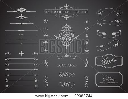 Vintage Decorative Ornament Borders And Page Dividers
