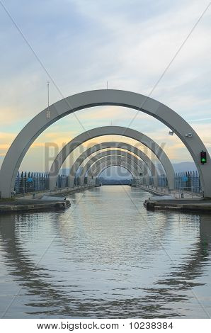 Upper Approach To The Falkirk Wheel
