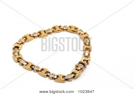 Gold Bracelet In The White