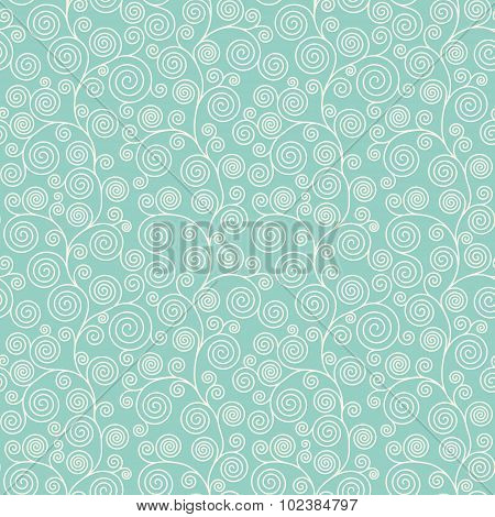 Seamless Pattern With Curvy Spirals