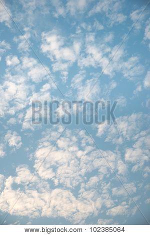 Blue fluffy sky