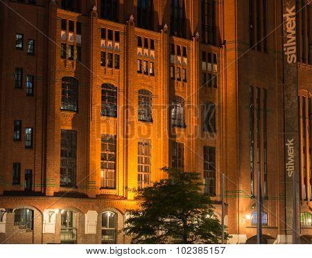 Architecture Building City in Hamburg's warehouse