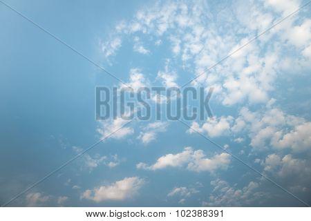 Light cloud over blue sky