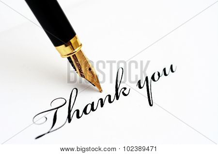Fountain Pen On Thank You