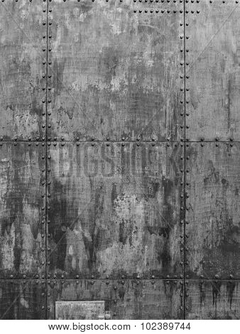 Grunge Ship texture in a gray shade