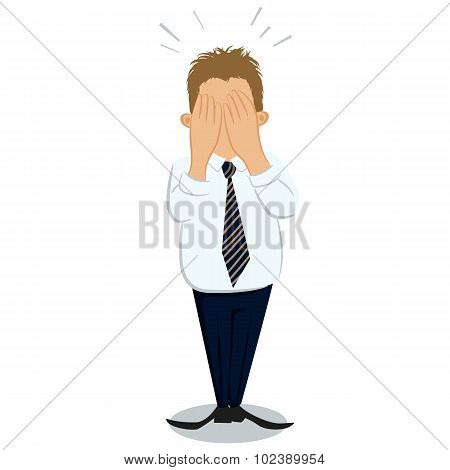 Overburded Businessman