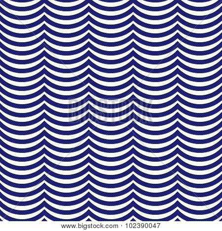 Navy Blue And White Wavy Stripes Tile Pattern Repeat Background