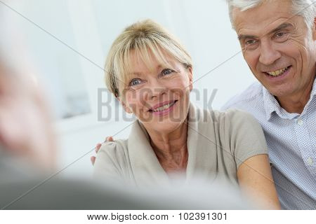 Portrait of happy senior couple