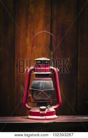 Still Life Of Old Hurricane Lamp