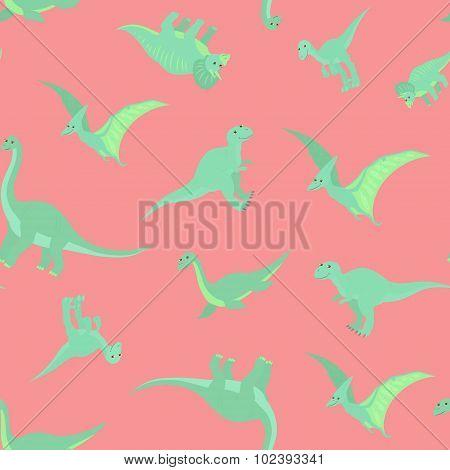 Cartoon dinosaurs pattern