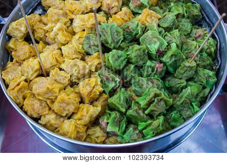 Chinese Steamed Dumpling.