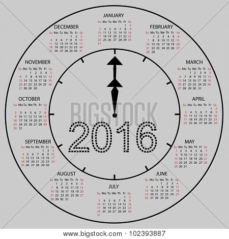 watch dial calendar 2016 new year