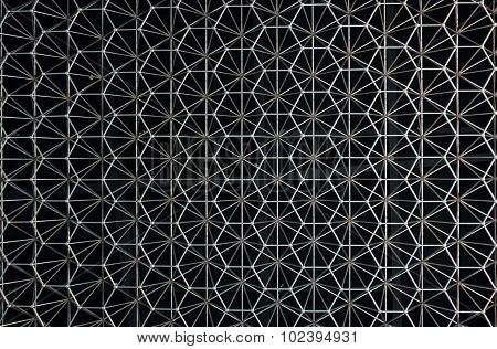 Abstract Pattern Of Metal In The Form Of Stainless Construction.