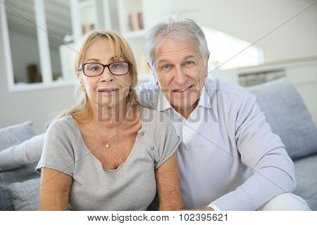Portrait of senior couple enjoying retirement