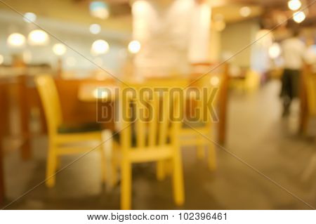 Abstract blurry classic style decoration restaurant