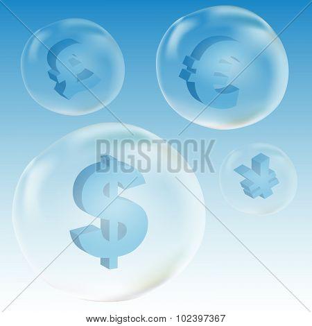 Dollar Symbol In Bubble