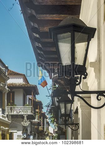 Colonial Style Architecture Details In Cartagena Colombia