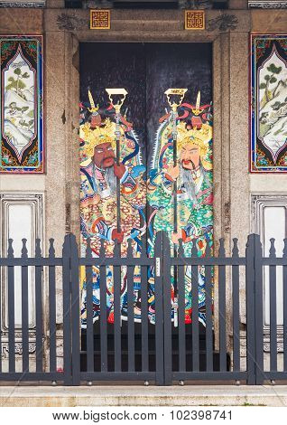 This Is A Very Traditional Kind Of House Gates In China.