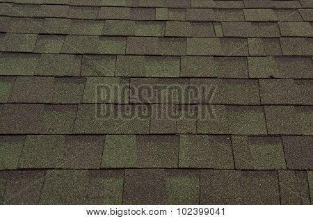 Top View Of The Roof Tiles.