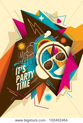 Colorful abstract party background. Vector illustration.
