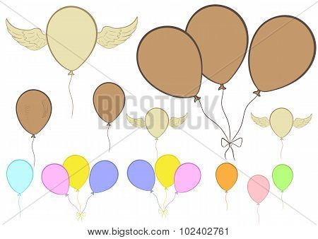 Clipart with balloons