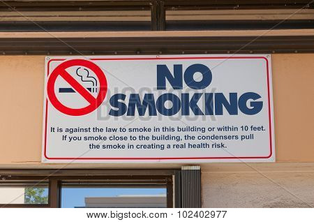 No Smoking Sign In George Town Of Grand Cayman Island