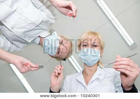 Dentists Preparing For Dental Curing