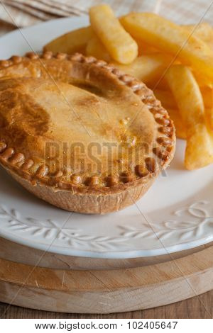 Savory Meat Pie And Chips