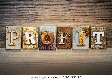 Profit Concept Letterpress Theme