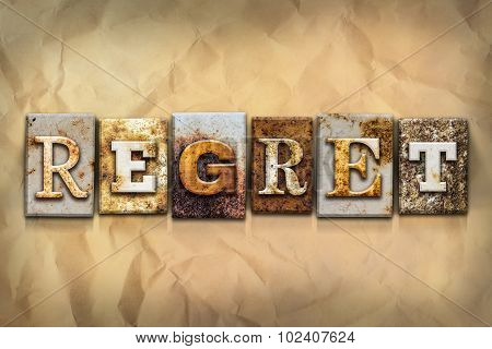 Regret Concept Rusted Metal Type