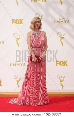 LOS ANGELES - SEP 20:  Zoe Kazan at the Primetime Emmy Awards Arrivals at the Microsoft Theater on September 20, 2015 in Los Angeles, CA