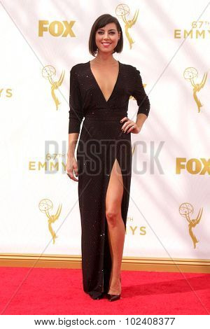 LOS ANGELES - SEP 20:  Aubrey Plaza at the Primetime Emmy Awards Arrivals at the Microsoft Theater on September 20, 2015 in Los Angeles, CA