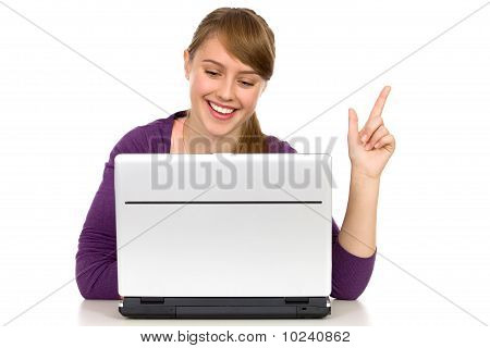 Girl using laptop