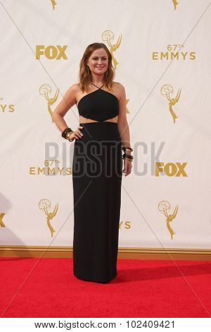 LOS ANGELES - SEP 20:  Amy Poehler at the Primetime Emmy Awards Arrivals at the Microsoft Theater on September 20, 2015 in Los Angeles, CA