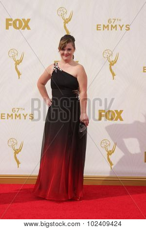 LOS ANGELES - SEP 20:  Jamie Brewer at the Primetime Emmy Awards Arrivals at the Microsoft Theater on September 20, 2015 in Los Angeles, CA