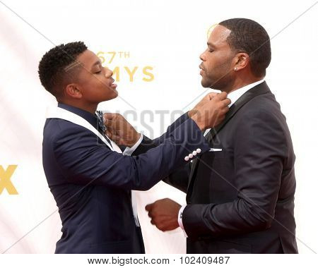 LOS ANGELES - SEP 20:  Nathan Anderson, Anthony Anderson at the Primetime Emmy Awards Arrivals at the Microsoft Theater on September 20, 2015 in Los Angeles, CA