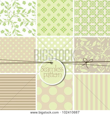 Colorful cute seamless patterns