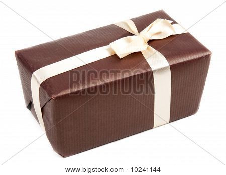 Gift Brown Box With Bow