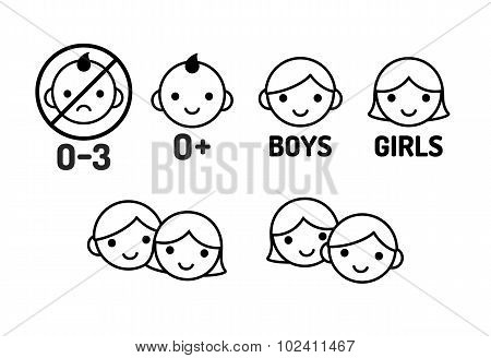Children Icon Set