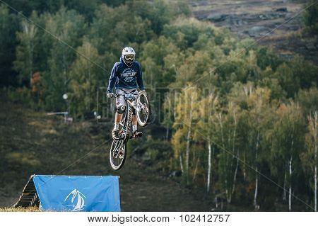 flight of the rider on the bike
