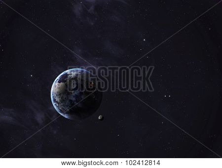 The Earth shot from space showing all they beauty. Extremely detailed image, including elements furn