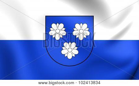 Flag Of Viersen City (north Rhine-westphalia), Germany.