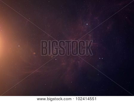 The Sun from space showing all they beauty. Extremely detailed image, including elements furnished b