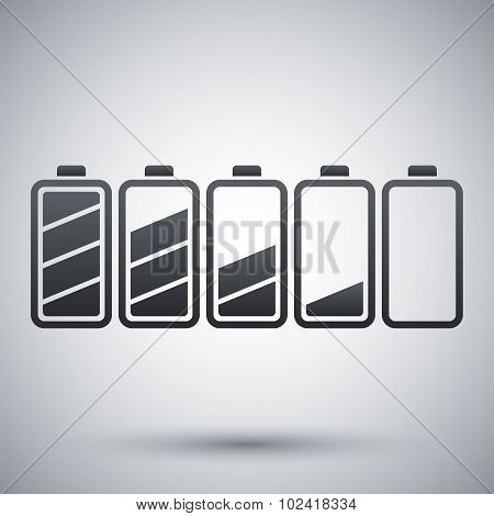 Battery Icons Set, Stock Vector