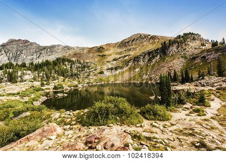 Cecret Lake at Albion Basin of Cottonwood Canyons, Utah