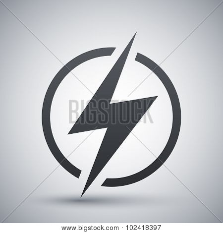 Lightning Icon, Vector