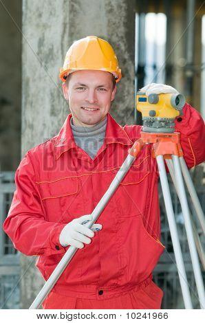 Smiling Surveyor Builder And Level